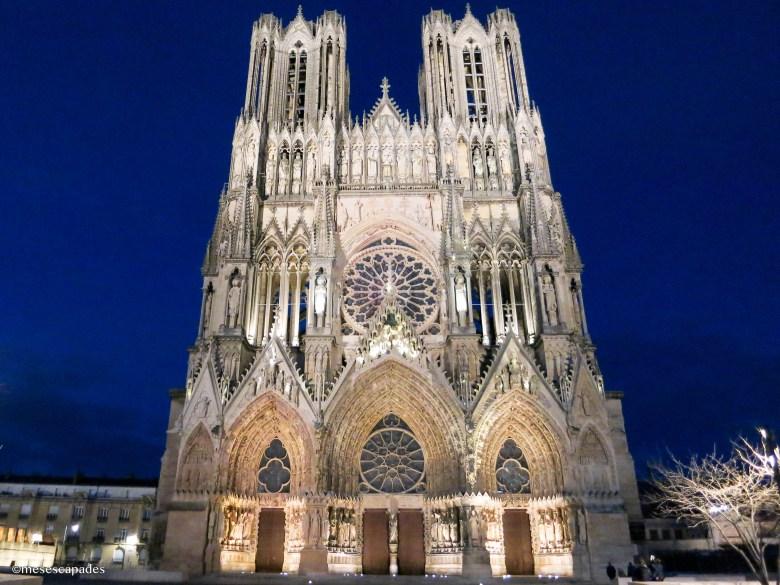 La Cathédrale de Reims la nuit