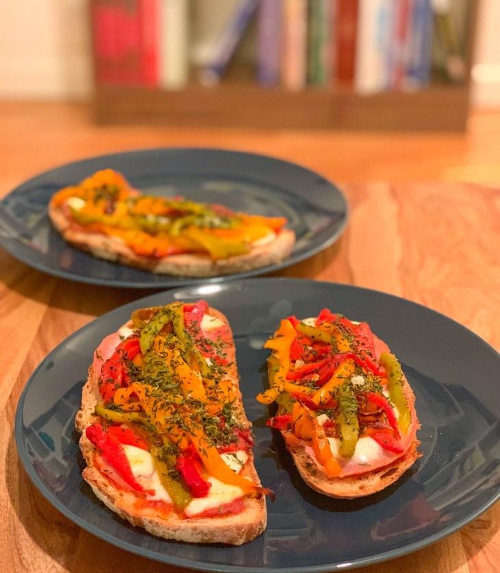 Tartines Poivrons & Mozzarella