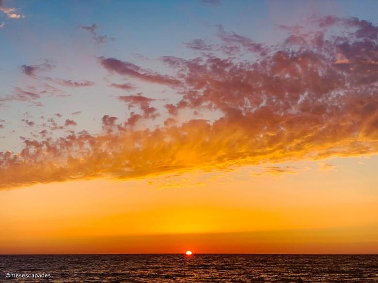 Coucher de soleil flamboyant à Cabourg