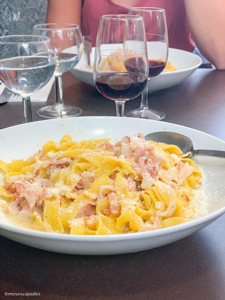 Pâtes Carbonara, La Cantinetta, restaurant italien de Marseille