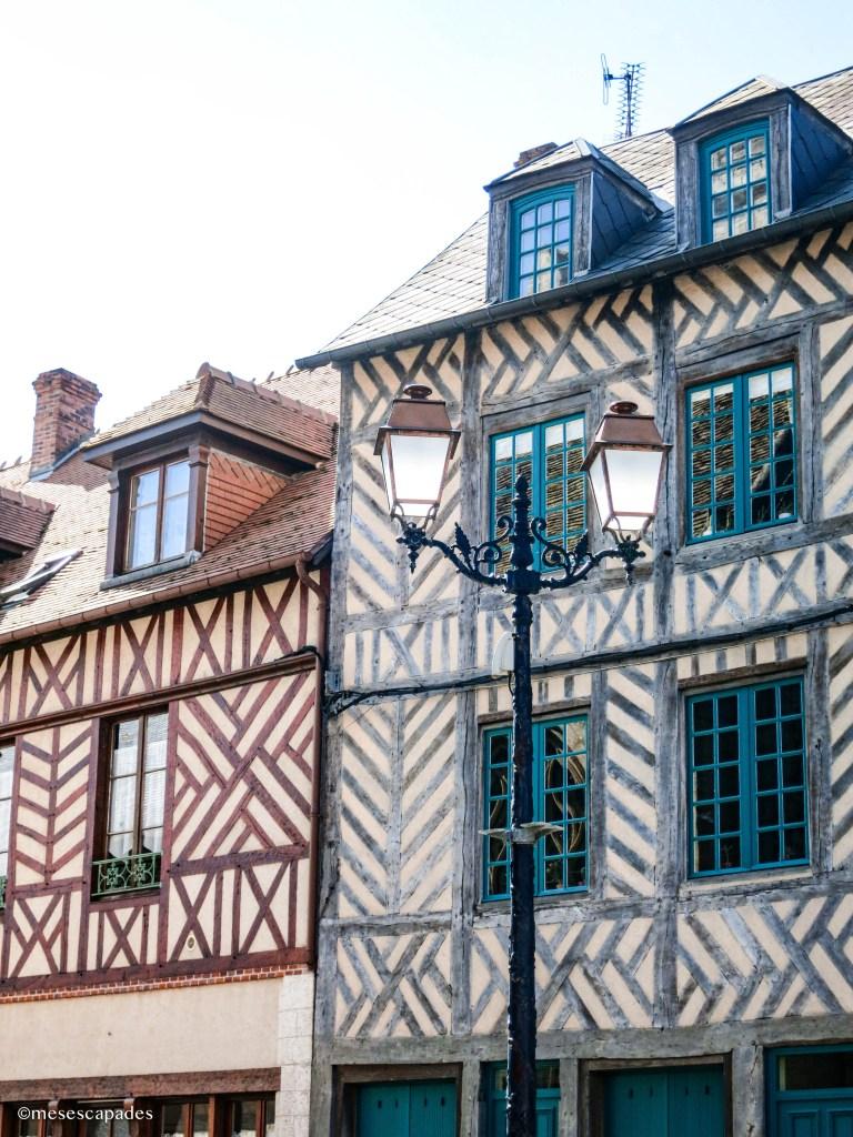 Maisons à colombage de Honfleur en Normandie