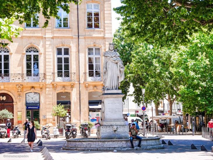 La place principale d'Aix-en-Provence