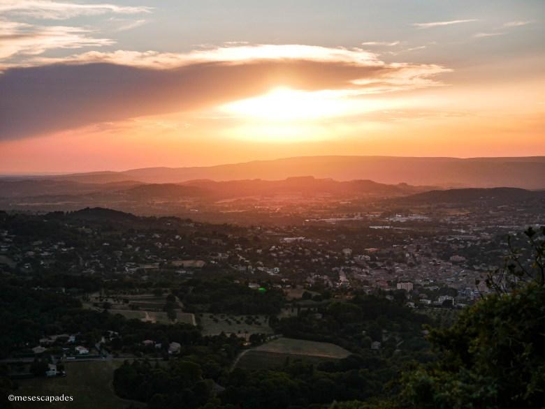 Coucher de soleil sublime dans le Luberon