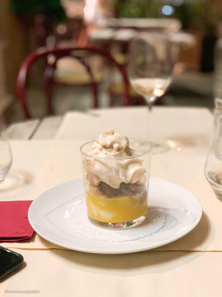 Dessert acidulé et au chocolat, les Cuisines du Château de Gordes