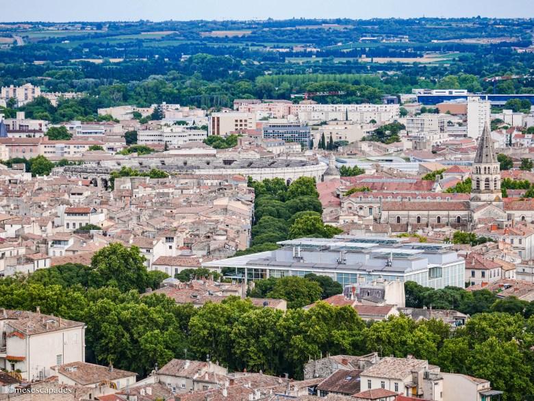 Vue sur Nîmes depuis la Tour Magne