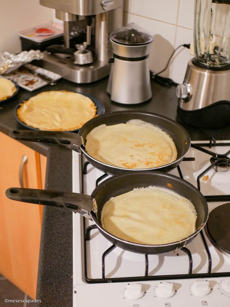 Cuisiner des crêpes au froment