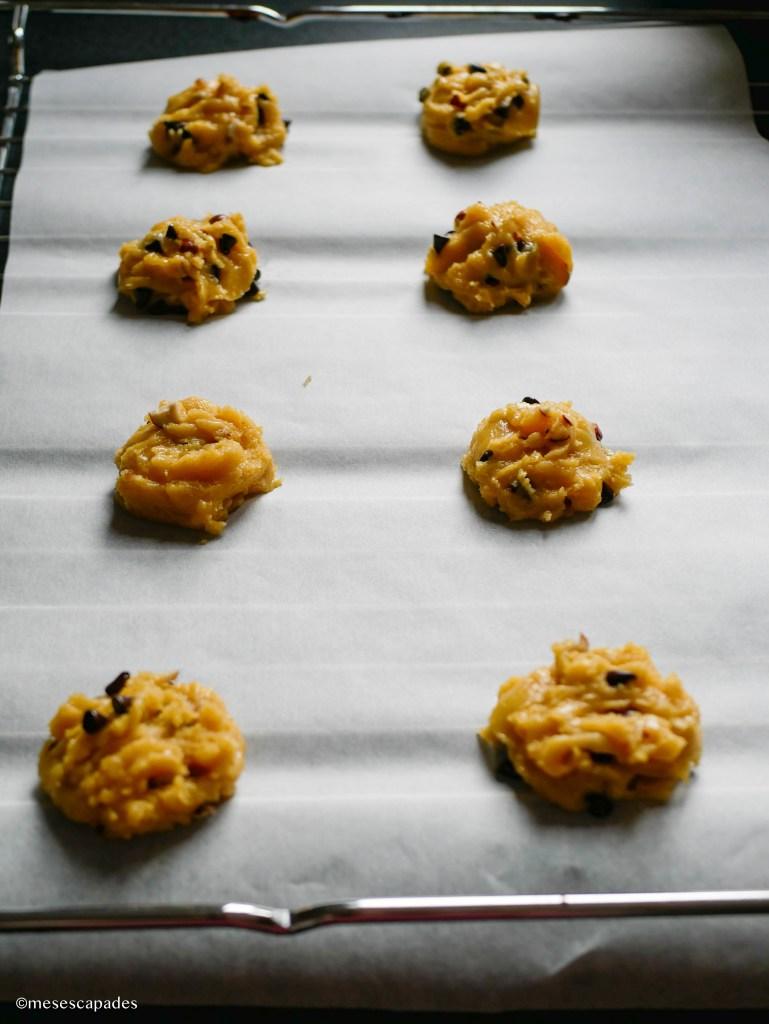 Préparation des cookies pralinés