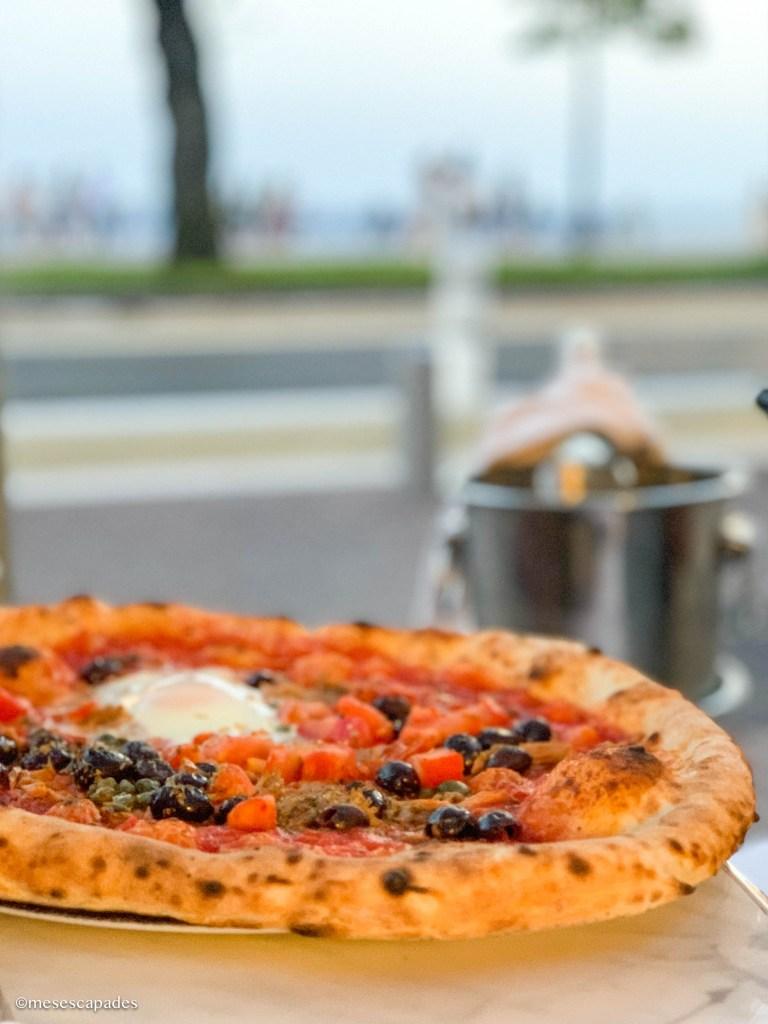 Pizzas sur la promenade des anglais