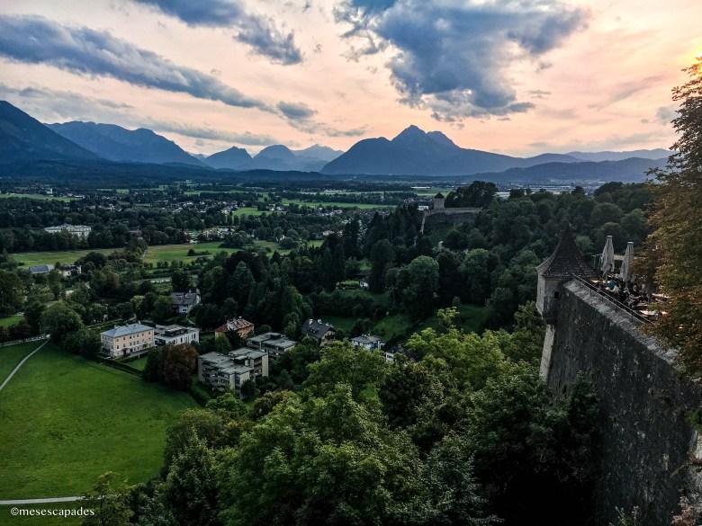 Point de vue sur les alentours de Salzbourg