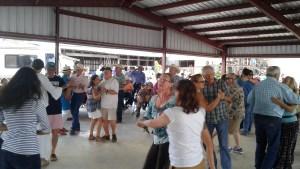 Packing the Dance Floor at Ft Davis Pavilion Viva Big Bend