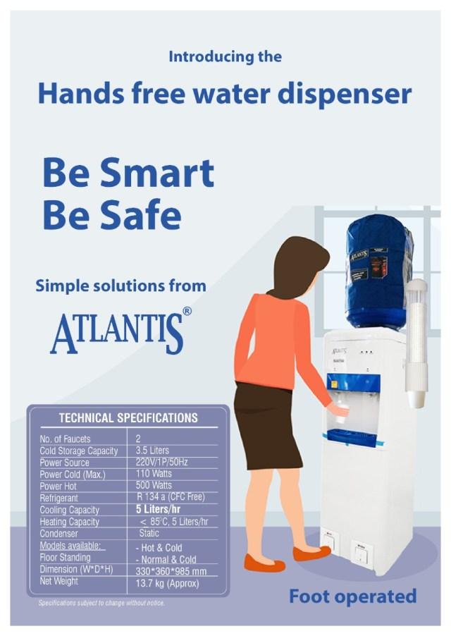 atlantis foot operated water dispenser