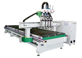 Mesin LD1325 Q4D Double Station Four Process Woodworking CNC Cutting Machine