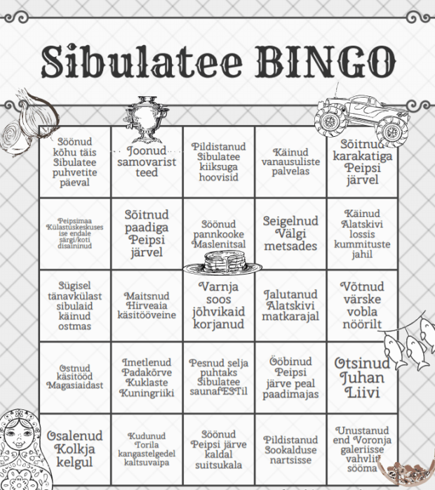 Sibulatee bingo