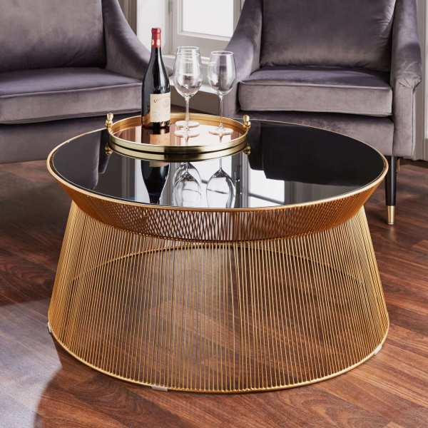 Gold Cage Coffee Table