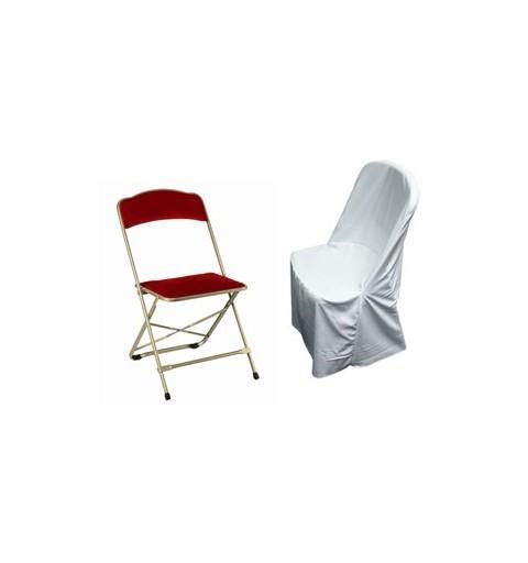 housses de chaises en lycra ou polyester