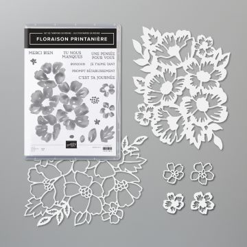 Lot floraison printanière stampin up