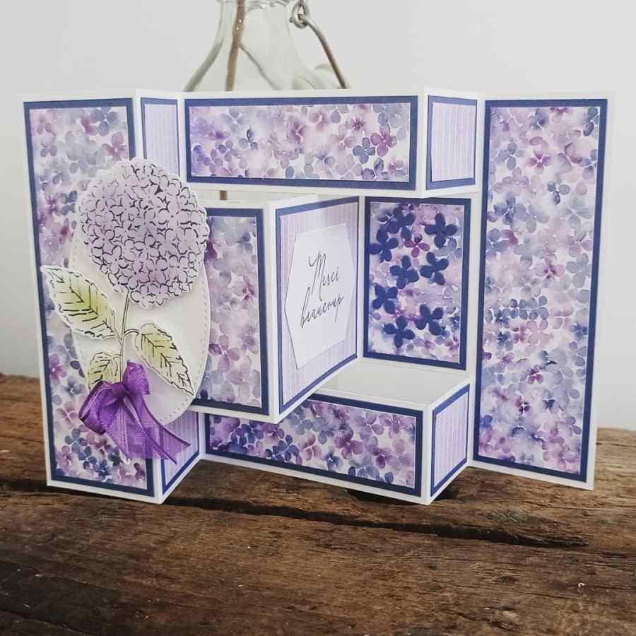 Trifold Card hortensias