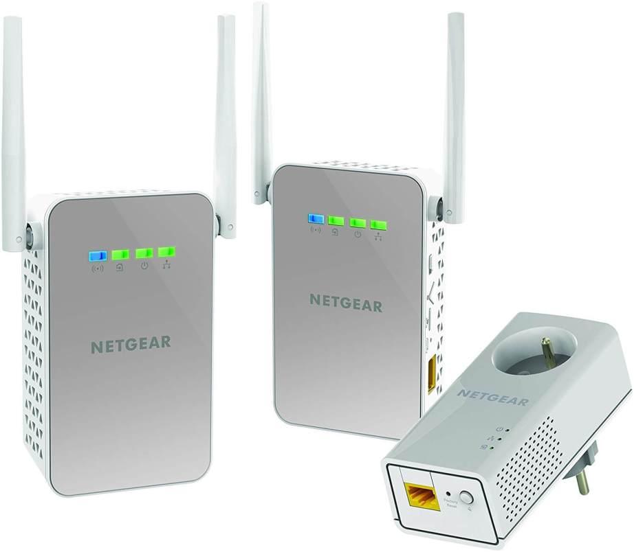 NETGEAR PLPW1000T-100FRS Pack de 3 CPL 1000 Mbps dernière génération