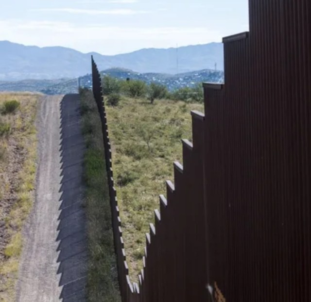 The Mexican border fence.