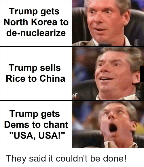 Trump sells rice to China