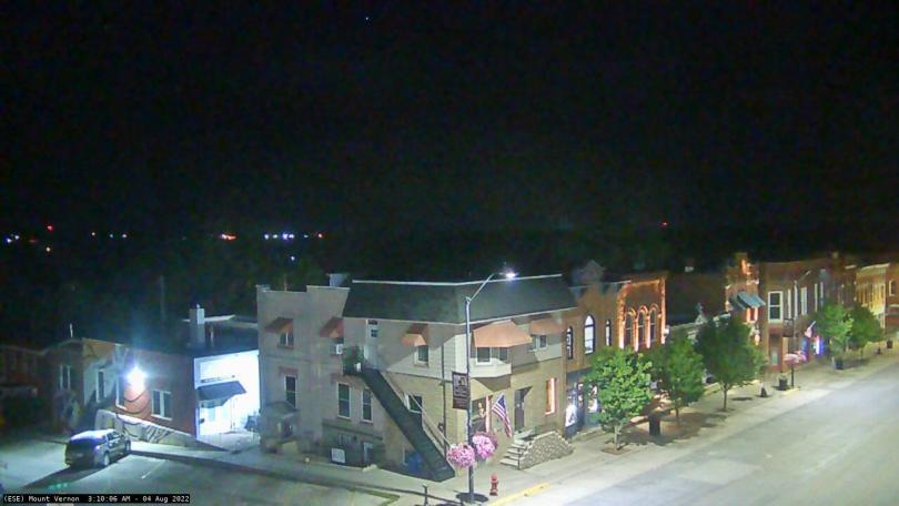image of Downtown Mount Vernon from a webcam on the Mount Vernon Bank