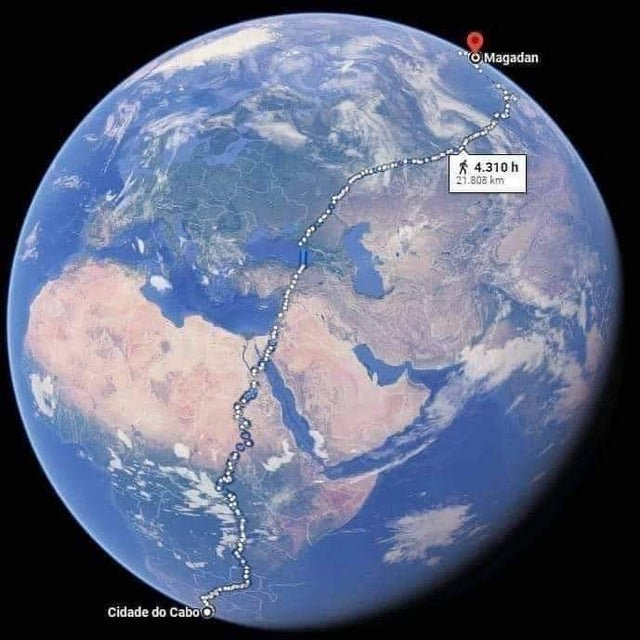 The longest walking path in the world: 22,000 kilometers and three years of travel between South Africa and Siberia
