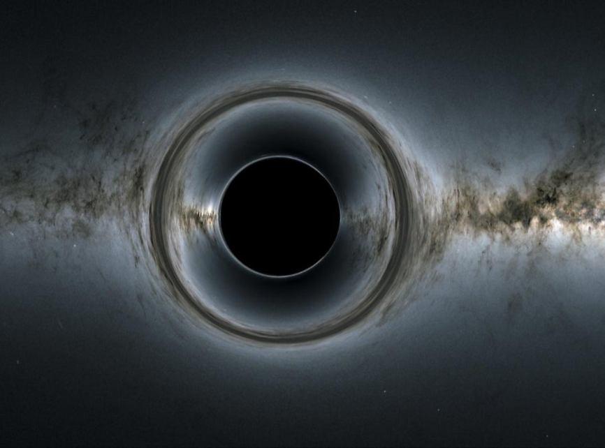 A gigantic dormant black hole triggers star formation