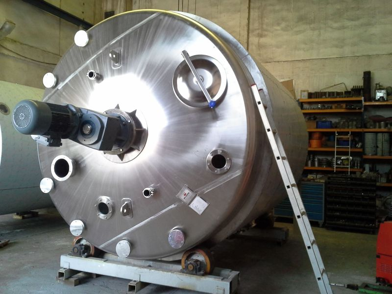 ECOLAB - 20m3 serpentine and insulated chemical reactor mixer tank