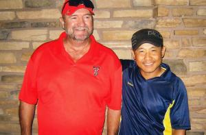 The winning team of Monday's Mesquite Challenge, Dave Jordan and Andrew Yeh. Submitted Photo.
