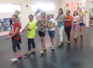 "Kids on Stage dancers as chimney sweeps, practice ""Chim Chim  Cher-ee"" for the KOS Disney Spectacular. Submitted Photo."