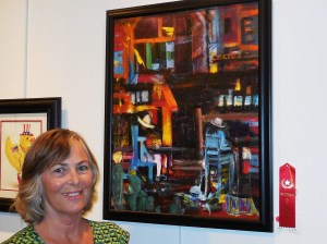 Jan Doherty recalled Cactus Jack's in her red ribbon painting