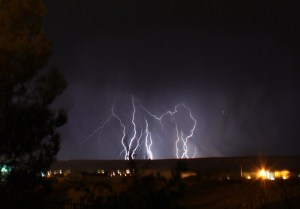 Chad Klein, known for being Mesquite's Long Driver, took these photos from his home by the Mesquite Airport Sunday night, facing West.