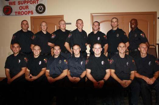 The Class of 2014 Mesquite Fire Academy: Jose Fernandez, Nate Hannig, Norm Nielson, Kasen Hughes, Rick Pitcher, Terran Leavitt, Jason Blakely, Travis Leavitt, Branon Chesley, Chaisson Low, Breven Chesley, Andrew Phillips, Zac Espejo and Class President Alexis Santisteban. Photo by Lou Martin.