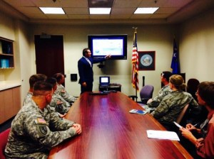 Secretary of State Ross Miller is joined by members of Nellis Air Force Base and the Nevada National Guard during a presentation of EASE, Nevada's Effective Absentee System for Elections.