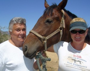 Tony and Jill Curtis in 2006 on Nevada ranch. Photo credit Nick Thomas