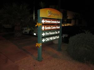 Yellow ribbons were hung on signs, street lights, fences and palm trees Tuesday night in honor of Ethan Mendenhall, a ten-year-old boy who passed away from Stage IV Neuroblastoma on Monday night. Photo by Stephanie Frehner.