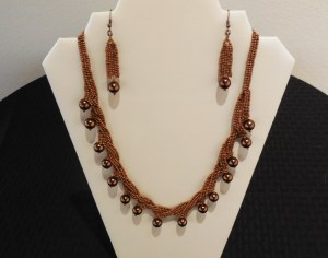 Jean Battaglia fine beaded necklace and earrings. Submitted photo.