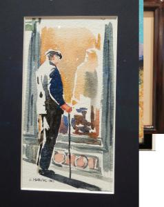 Watercolorist Karen March has entered a series of Paris figures in this year's Lucky 13 exhibition