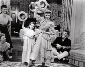 3. With Judy Garland in Meet Me in St. Louis - 1944