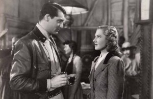 2. Publicity still for Only Angels Have Wings with Cary Grant and Jean Arthur