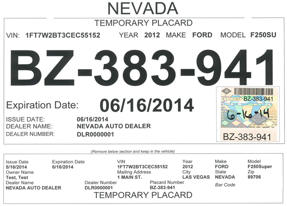 Dmv moves to new temporary tag system mesquite local news for Department of motor vehicles carson city nevada