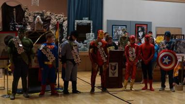 "Several real superheroes were in attendance at this year's ""Super Hero"" Day Camp for local Cub Scouts. Submitted photo."