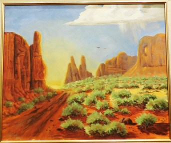 James Lanier painted to Marilyn Ball's Contrasts of Mojave County