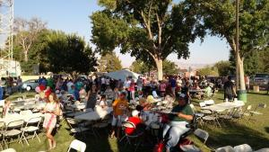 Hundreds of Bunkerville and Mesquite residents gathered last Thursday to help raise money for resident Ron Barnum, who had underwent a kidney and pancreas transplant the day before. Photo by Stephanie Frehner.