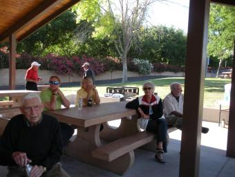 Some of the Desert Dames enjoy their annual picnic. Submitted photo.