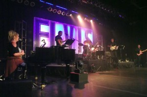 """The """"Elvis Rocks Mesquite Band"""" provided live instrumental backup for the contestants during the finals of the Elvis Rocks Mesquite Competition which was held on June 20, 2015 at the CasaBlanca Resort Casino. Band Members:  Tim Samarin and Keith Neal on Guitar, Tim Johnson on Bass Guitar, Jeff Krashin on Drums along with Vita Corimbi Drew who plays the piano and is the band's musical director. Photo by Teri Nehrenz."""