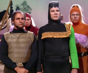 Michael Dante, center, as Maab in Star Trek's Friday's Child- Desilu Productions, NBC