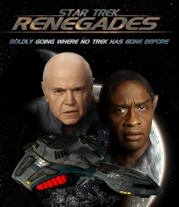 Walter Koenig and Tim Russ in promtional poster for Star Trek Renegades