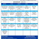 Senior Center Menu and News August 2015
