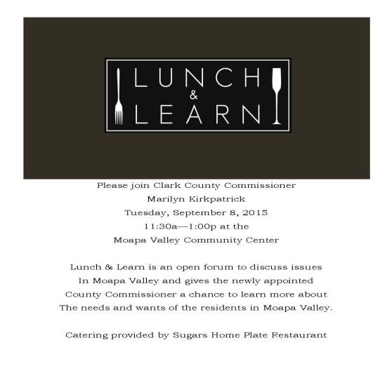Moapa Valley Lunch and Learn 090815